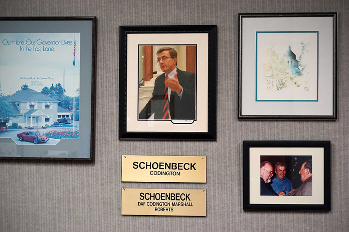 Schoenbeck Law history pictures on wall